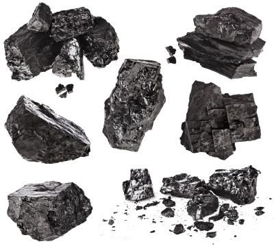 Carvão de mina - Mineral - gases